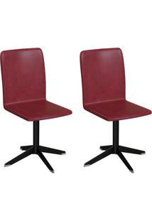 Conjunto Com 2 Cadeiras Raglan Vinho E Preto