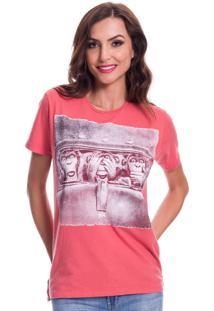 Camiseta Jazz Brasil Macacos Vermelha - Vermelho - Feminino - Algodã£O - Dafiti
