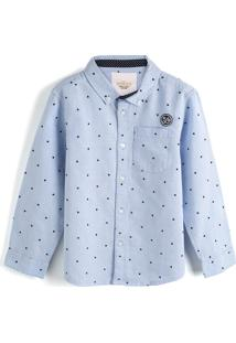 Camisa Milon Menino Estampa Azul