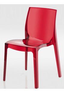 Cadeira Femme Fatale Policarbonato Vermelho - 16305 - Sun House