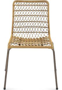 Cadeira Trama Slim Junco Sintético Design Exclusivo By Studio Artesian