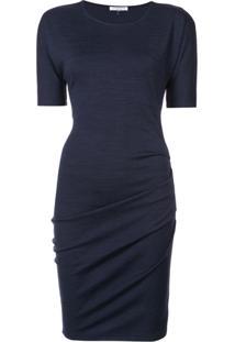 Halston Heritage Vestido Slim - Azul