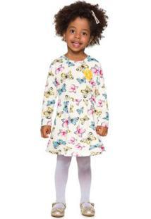 Vestido Infantil Menina Bege