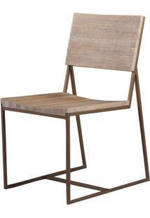 Cadeira York Assento Mad Driftwood Base Aco Cobre - 38306 Sun House