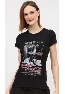 """Camiseta """"All We Need Is""""- Preta & Cinza- Coca-Colacoca-Cola"""