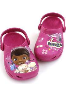 Babuche Bebê Ventor Doutora Brinquedos Disney Plugt Feminino - Feminino-Pink