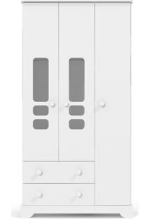 Roupeiro 3 Portas Smart Branco-Acetinado Matic