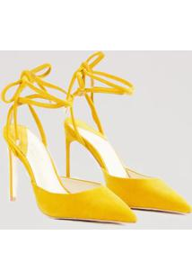 Scarpin Amarração Color Amarelo Mel - 38