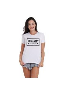 Camiseta Jay Jay Basica Humanity Branca Dtg