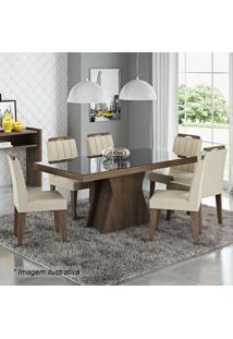 Conjunto De Mesa & Cadeiras Olívia Para 6 Lugares- Marrocimol