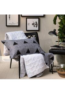 Kit Cobreleito Home Design Memphis Queen - Santista - Cinza