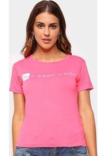 Camiseta Volare Be A Dream Creator Manga Curta Feminina - Feminino