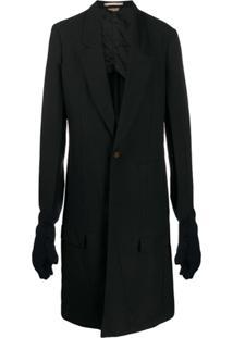 Comme Des Garçons Homme Plus One-Button Long Coat - Preto