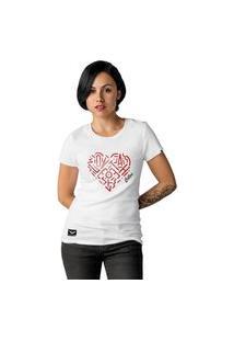 Camiseta Feminina Cellos Heart Premium Branco