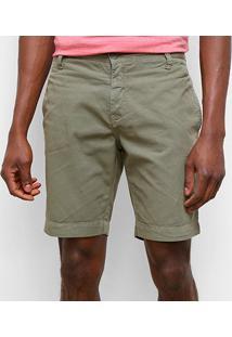 Bermudas Calvin Klein Masculino Cm0Pc13Bc599 - Masculino-Verde Militar