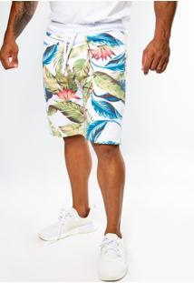 Bermuda Moletom Top Fit Advance Tropical Life Multicolorido - Kanui