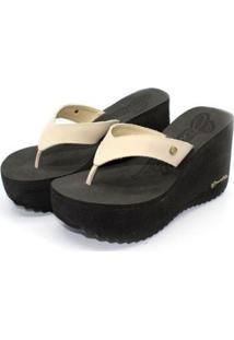 Tamanco Barth Shoes Sorvete Bicolor Feminino - Feminino-Bege