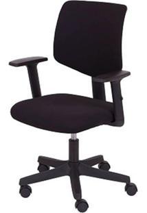 Cadeira Office Giratoria Preta Base Nylon - 35771 - Sun House