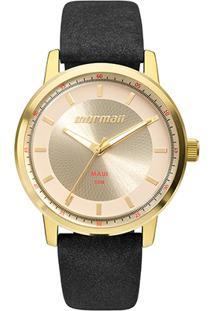 Relógio Mormaii Analógico Mo2035Ib-2D Feminino - Feminino-Preto+Dourado