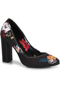 Sapato Salto Lara Floral