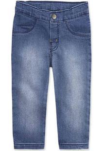 Calça Jeans Bebê Menino Com Elastano Hering Kids
