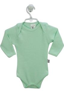 Body Mafessoni Bebê Manga Longa - Masculino-Verde