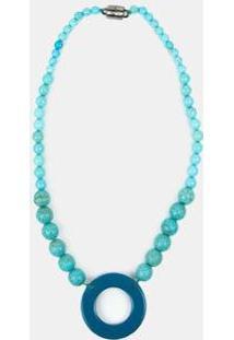 Colar Soleah Imaginária Poderosa Feminino - Feminino-Azul