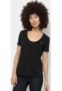 Camiseta Lacoste Básica Feminina - Feminino