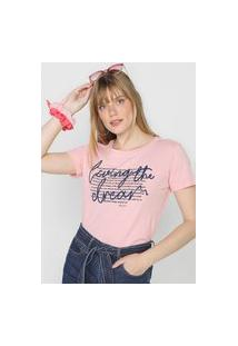 Camiseta Polo Wear Living The Dream Rosa