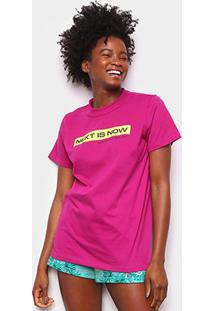 Camiseta Colcci Next Is Now Feminina - Feminino-Rosa