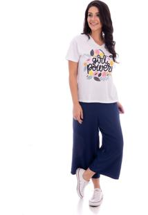 Camiseta Atelie Fashion Tal Mãe Tal Filha Girl Power Branca