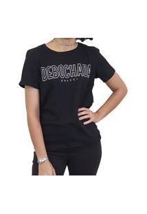 T-Shirt Feminina Colcci Manga Curta Preto