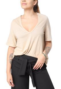 Camiseta Gola V Superfluous Eco Bege - Kanui