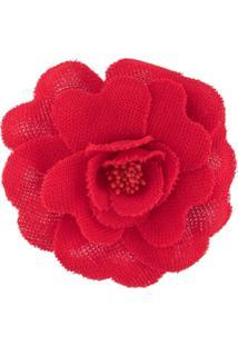Philosophy Di Lorenzo Serafini Broche Com Aplicação Floral - Vermelho