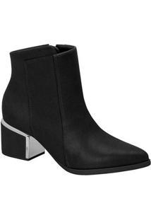 Ankle Boots Feminina Vizzano Básica Preto