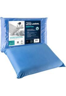 Travesseiro Fibrasca Latex Sintético Frostygel 50X70Cm Azul - Tricae
