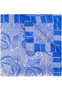Etro Cachecol Com Estampa Paisley - Azul