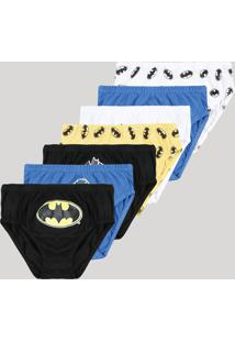 Kit De 7 Cuecas Infantis Batman Multicor