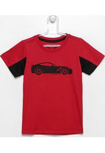 Camiseta Infantil Corvette Big Car - Masculino-Vinho