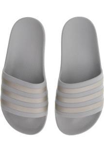 Chinelo Adidas Adilette Aqua - Slide - Feminino - Cinza