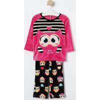 d491692f1 Pijama Coruja Manga Longa feminino