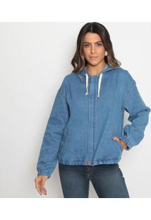 Jaqueta Jeans Com Bolsos - Azul- Sisalsisal