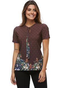 T-Shirt Zaiko Garden Mc Marrom (1620Est4)