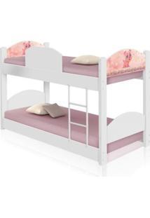 Beliche Infantil Pig Com Colchãµes Casah - Branco/Rosa - Menina - Dafiti