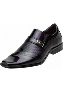 Sapato Social Gofer Verniz Preto Purpura