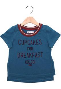 Camiseta Colcci Fun Menina Azul