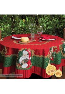 Toalha De Mesa Estampada Natal- Vermelha & Verde- Ø1Lepper