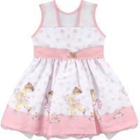b1db756b71 Kanui. Vestido Para Festa Essência Viva Pequena Bailarina Rosa