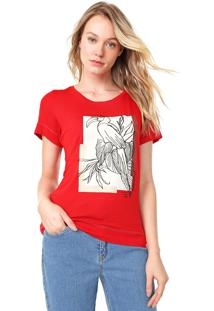 Camiseta Forum Estampada Vermelha