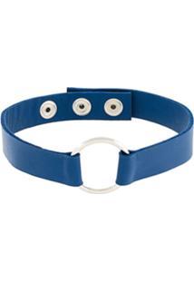 Manokhi Choker 'Marla' Em Couro - Azul